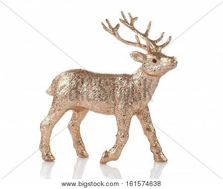 decoration for the Christmas tree in the form of a deer on a white background