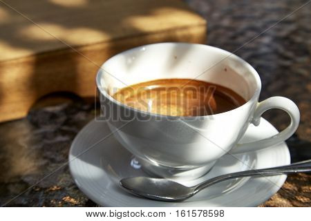 cup of coffee on glass table, relax, epicure, hot, high, aroma, table, morning,