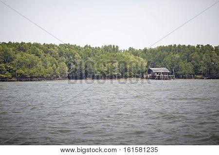 Fisherman's house Bangchan The No-Land Village of Chanthaburi