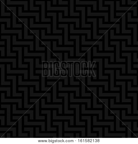 Black Neutral Seamless Pattern for Modern Design in Flat Style. Tileable Geometric Vector Background.