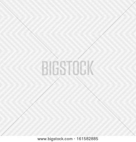 Chevron Pattern. White Neutral Seamless Pattern for Modern Design in Flat Style. Tileable Geometric Vector Background.