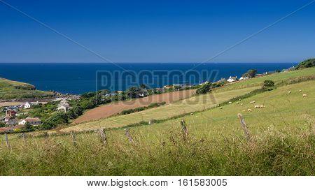 Bigbury-on-Sea on a clear day. Devon. England