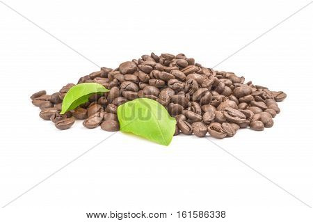 Roast coffee isolated on a white background cutout