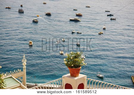 View To The Sea In Positano, Italy