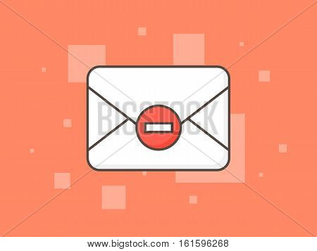 No spam vector illustration. Stop spam creative concept.