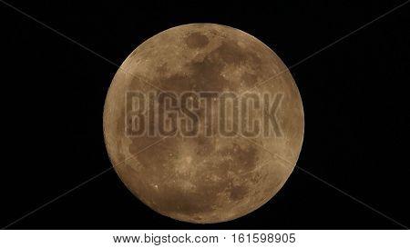 Full moon on the dark night .