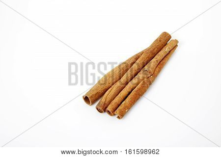 closeup cinnamon natural isolated on white background