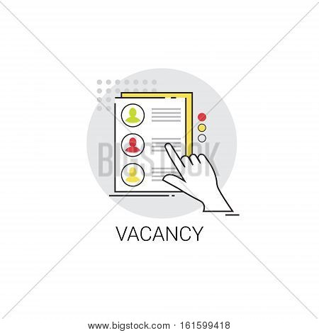 Recruitment Candidate Job Position Vacancy Icon Business Concept Vector Illustration