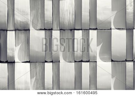 White Wall Pattern - Architectural Detail. Abstract Texture Background.