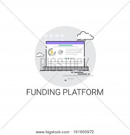Crowdfunding Business Funding Platform Concept Icon Vector Illustration