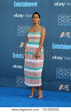 LOS ANGELES - DEC 11:  Tracee Ellis Ross at the 22nd Annual Critics' Choice Awards at Barker Hanger on December 11, 2016 in Santa Monica, CA