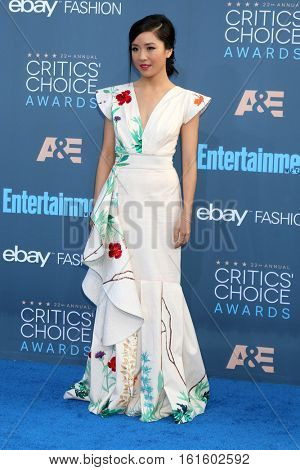 LOS ANGELES - DEC 11:  Constance Wu at the 22nd Annual Critics' Choice Awards at Barker Hanger on December 11, 2016 in Santa Monica, CA