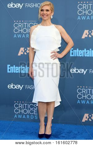 LOS ANGELES - DEC 11:  Rhea Seehorn at the 22nd Annual Critics' Choice Awards at Barker Hanger on December 11, 2016 in Santa Monica, CA