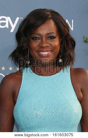 LOS ANGELES - DEC 11:  Viola Davis at the 22nd Annual Critics' Choice Awards at Barker Hanger on December 11, 2016 in Santa Monica, CA
