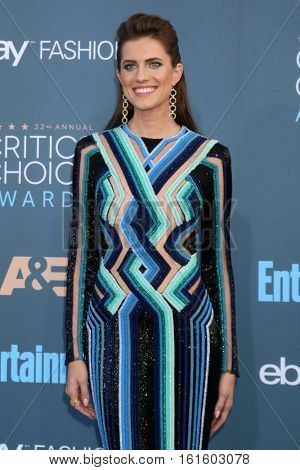 LOS ANGELES - DEC 11:  Allison Williams at the 22nd Annual Critics' Choice Awards at Barker Hanger on December 11, 2016 in Santa Monica, CA
