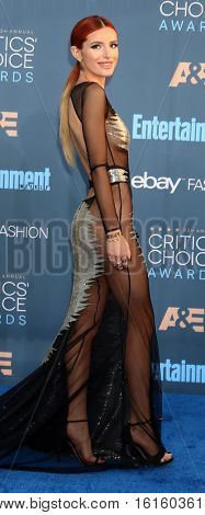 LOS ANGELES - DEC 11:  Bella Thorne at the 22nd Annual Critics' Choice Awards at Barker Hanger on December 11, 2016 in Santa Monica, CA
