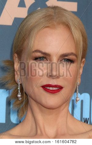 LOS ANGELES - DEC 11:  Nicole Kidman at the 22nd Annual Critics' Choice Awards at Barker Hanger on December 11, 2016 in Santa Monica, CA