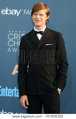 LOS ANGELES - DEC 11:  Lucas Hedges at the 22nd Annual Critics' Choice Awards at Barker Hanger on December 11, 2016 in Santa Monica, CA