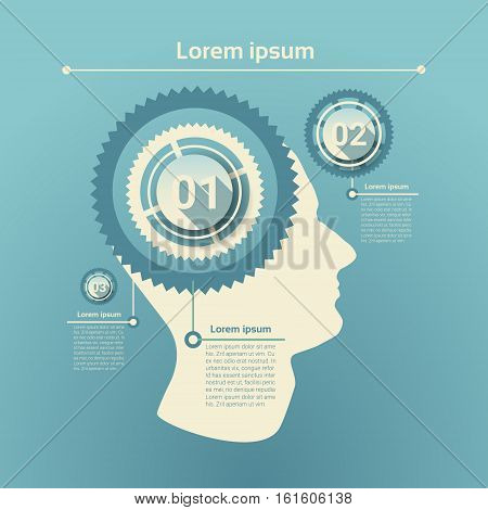 Graph Set Human Infographic Icon Business Network Chart Flat Vector Illustration