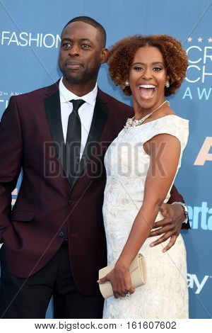 LOS ANGELES - DEC 11:  Sterling K Brown, Ryan Michelle Bathe at the 22nd Annual Critics' Choice Awards at Barker Hanger on December 11, 2016 in Santa Monica, CA