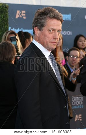 LOS ANGELES - DEC 11:  Hugh Grant at the 22nd Annual Critics' Choice Awards at Barker Hanger on December 11, 2016 in Santa Monica, CA