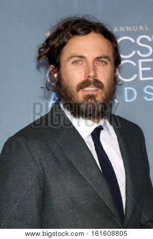 LOS ANGELES - DEC 11:  Casey Affleck at the 22nd Annual Critics' Choice Awards at Barker Hanger on December 11, 2016 in Santa Monica, CA