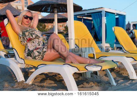Girl On Summer Holidays Vacation