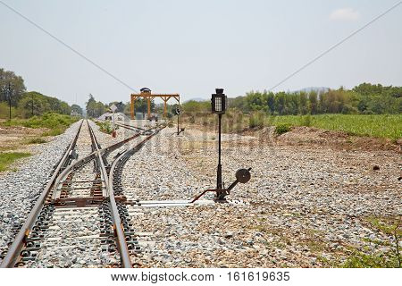 The line turning point of the rails
