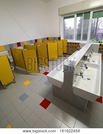 Bathroom  For Children In The Preschool Without People