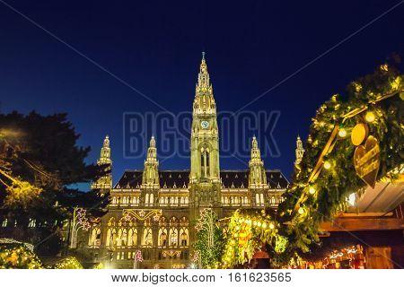 Christmas market in Vienna