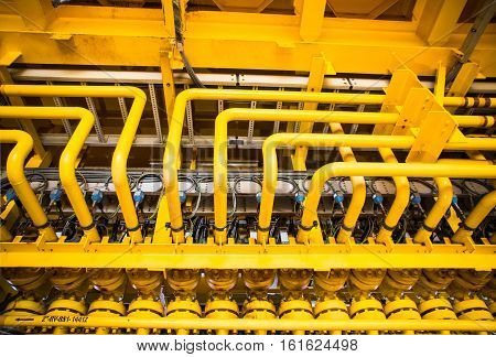Flowline production and control valve for oil and gas process Petroleum construction on offshore wellhead remote platform Energy and petroleum industry Oil and gas or Petroleum is major of world.
