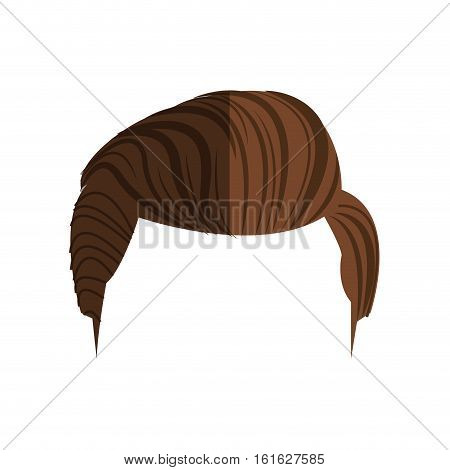 Man hair icon. Male avatar person people and human theme. Isolated design. Vector illustration