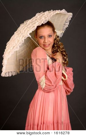 Teenage Girl With Parasol