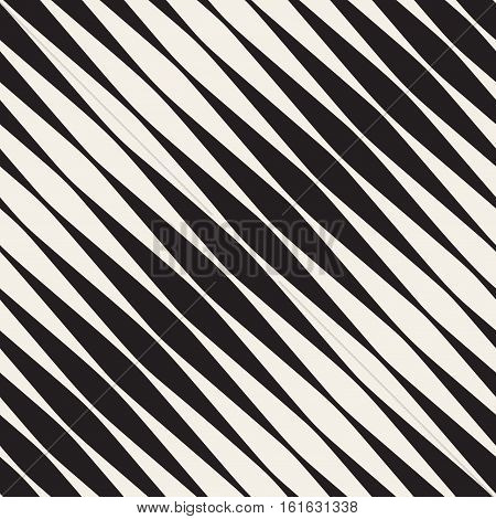 Vector Seam. Abstract Geometric Background Design. less Black and White Halftone Diagonal Stripes Pattern