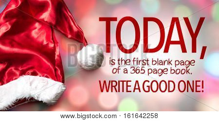 Today is the first blank page of a 365 page book. Write a Good One!