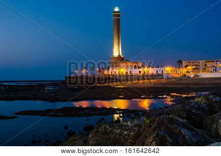 lighthouse of Chipiona at the province of Cadiz