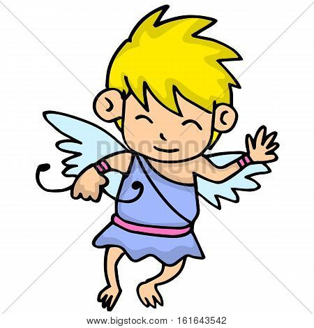 Funny cupid cartoon vector art collection stock