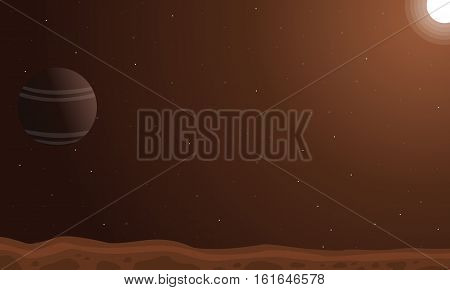 Desert planet background vector art collection stock