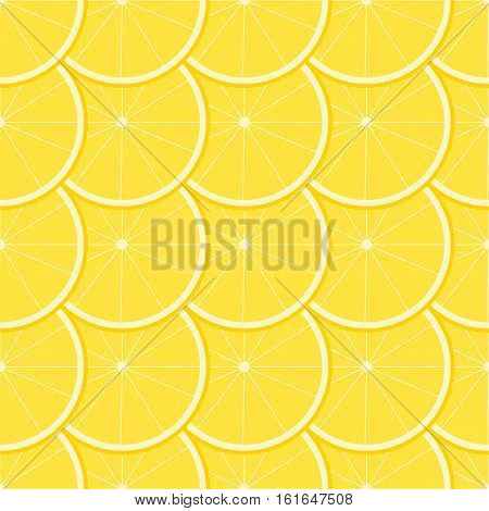 Seamless pattern with ripe juicy lemon fruit.