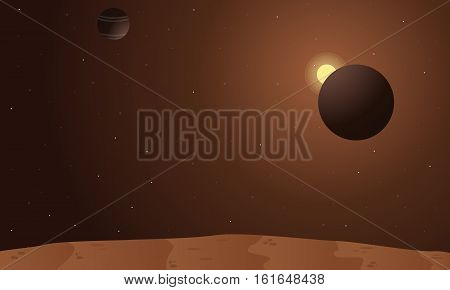 Vector illustration of theme space collection stock