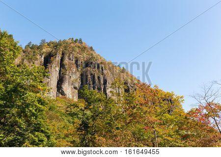 Volcanic cliff in Sandai of Japan