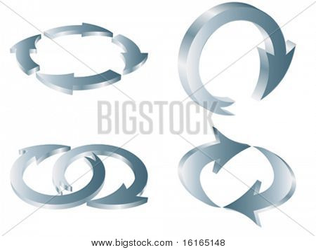 Circular arrows different forms