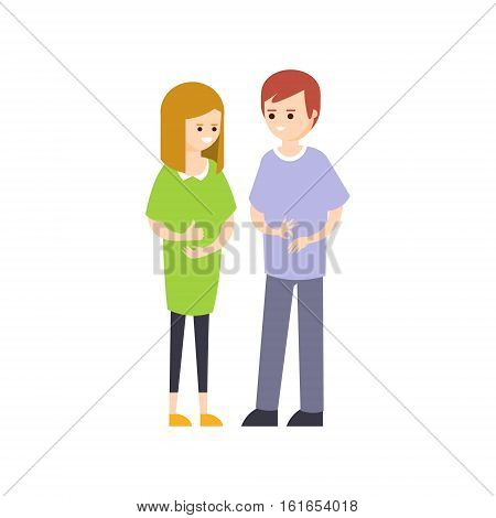Physically Handicapped Person Living Full Happy Life With Disability Illustration With Smiling Mute Couple Talking Sign Language. Disabled Cartoon Character With Physical Impairment Vector Drawing.