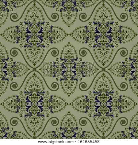 Seamless vintage green wallpaper background.