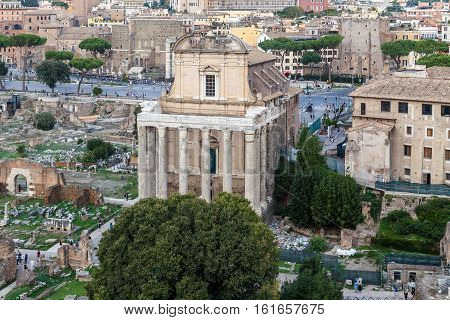 Roman Forum, Temple Of Antoninus Pius And Faustina