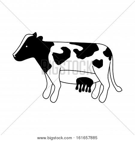 Cow icon. Animal farm life nature and fauna theme. Isolated design. Vector illustration