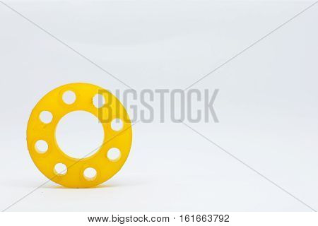 resin mold of flanges isolate on white background.