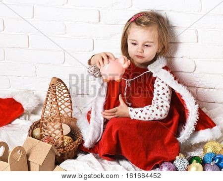 Young Cute Blonde Christmas Girl