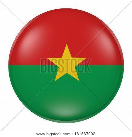 Burkina Faso Button On White Background