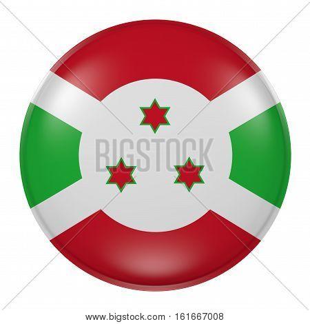 Burundi Button On White Background